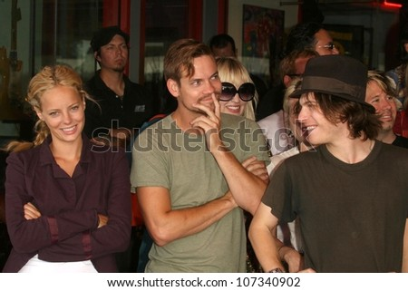Bijou Phillips with Shane West and Noah Segan  at the Hollywood RockWalk Induction Ceremony Honoring The Germs. Hollywood RockWalk, Hollywood, CA. 08-20-08