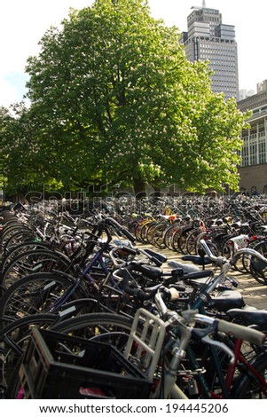 bike Amsterdam - stock photo