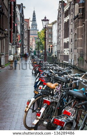 Bike and Canal - stock photo