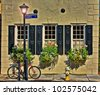 Bike and Cobblestone - stock photo