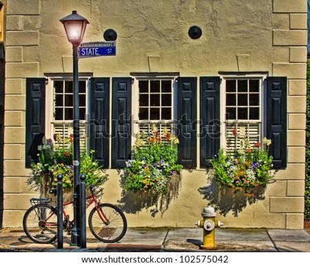 Bike and Cobblestone - stock photo