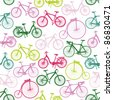 Bike background. Endless pattern. Can be used for wallpaper, pattern fills, web page background, surface textures, fabric design. - stock vector