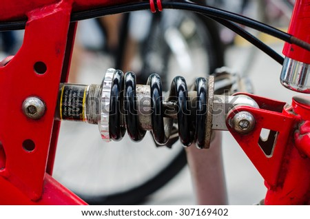 Bike components - stock photo