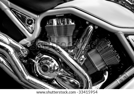 Bike engine - stock photo