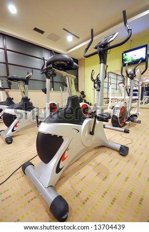 bike gym - stock photo
