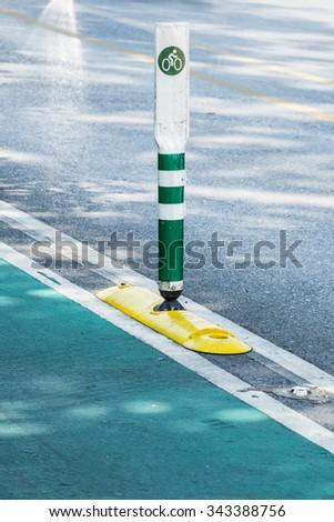 bike lane - stock photo