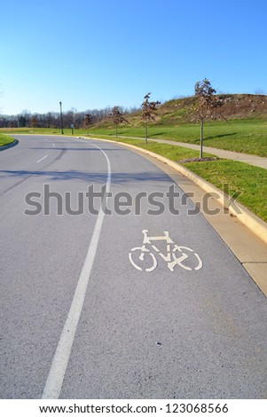 Bike Lane on a Roadway