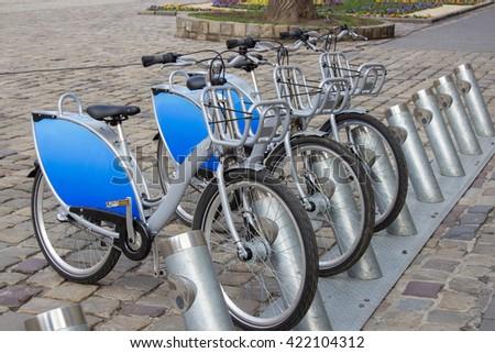 bike rental - stock photo
