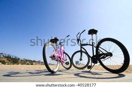 Bikes on the Beach - stock photo