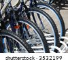 bikes parked - stock photo