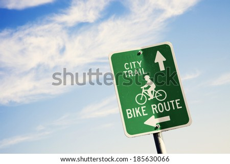 Biking in the city - seen in Madison, Wisconsin - stock photo