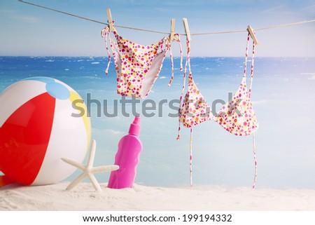 beach ball Bikini