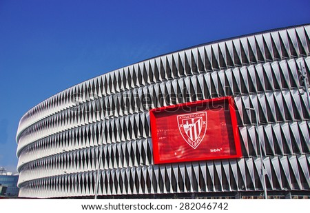 BILBAO, SPAIN, MAY 28 2015: View of San Mames football stadium on May 28, 2015 in Bilbao, Biscay, Basque Country, Spain - stock photo