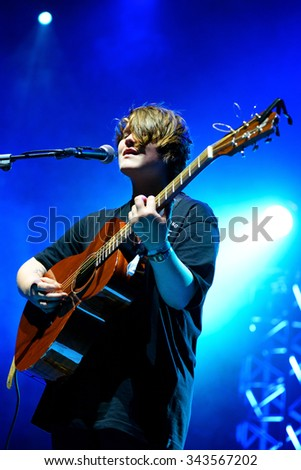 BILBAO, SPAIN - OCT 31: Soak (band) live performance at Bime Festival on October 31, 2014 in Bilbao, Spain.