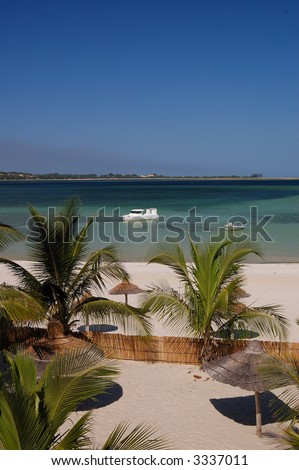 Bilene beach in mozambique 2 - stock photo