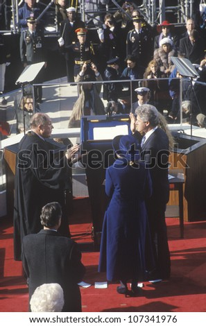 Inauguration of president clinton stock images royalty free images vectors shutterstock - When did clinton take office ...