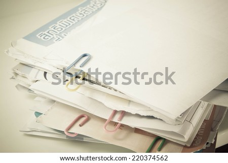 Bill for pay every month   - stock photo