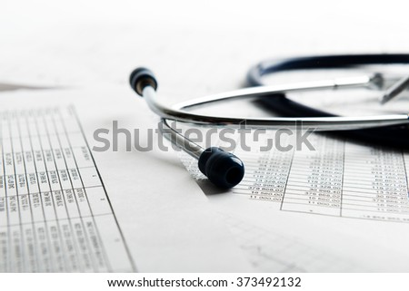 Bill from the doctor concepts of rising medical cost - stock photo
