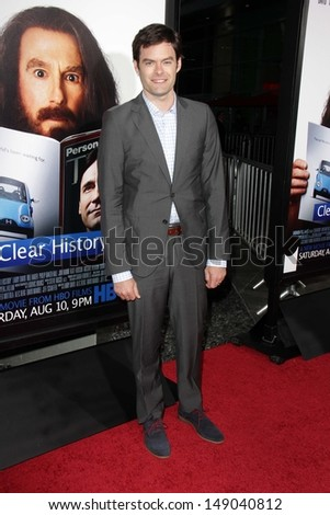 "Bill Hader at the ""Clear History"" Los Angeles Premiere, Arclight, Hollywood, CA 07-31-13"