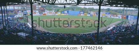 Bill Meyer Stadium, AA Southern League, Greenville, South Carolina - stock photo