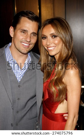 Bill Rancic and Giuliana Rancic at the 37th Annual Gracie Awards Gala held at the Beverly Hilton Hotel in Beverly Hills on May 22, 2012.