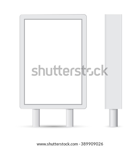 Billboard. Blank Billboard for Copy Space. raster version - stock photo