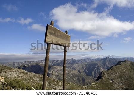 billboard in a mountain - stock photo