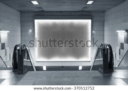 billboard in subway   - stock photo