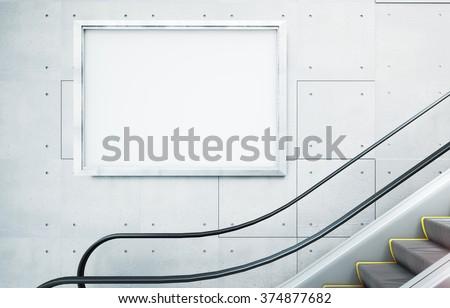 billboard mockup - stock photo