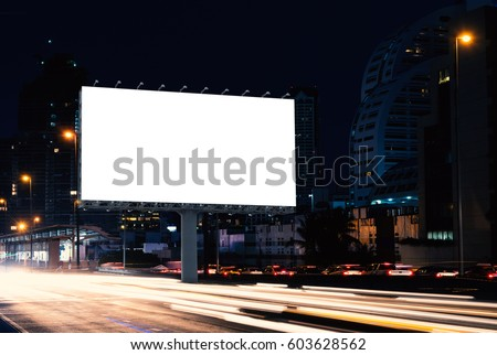 Billboard Mockup Outdoors Outdoor Advertising Poster Stock Photo - Street advertising
