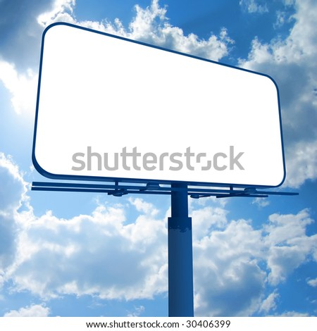 Billboard on a sky background