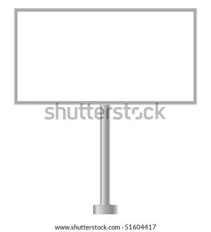 Billboard on a white background with the inscription news