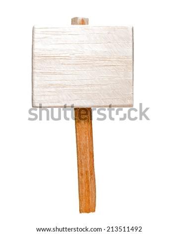billboard on stake  --  illustration - stock photo