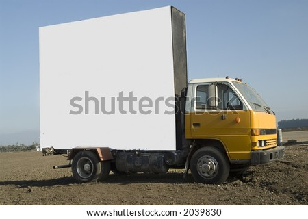 Billboard Truck ready for text