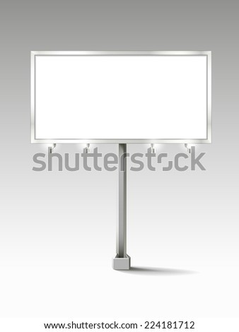 billboard with empty screen isolated on white background - stock photo