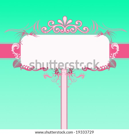 Billboard with flowers. - stock photo