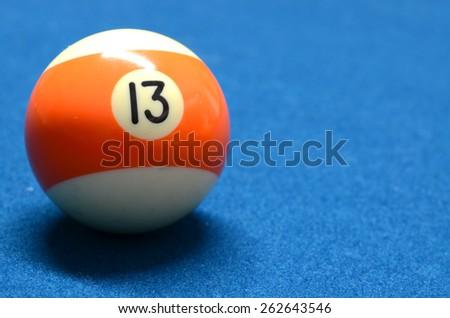 Billiard Ball number 13 isolated - stock photo