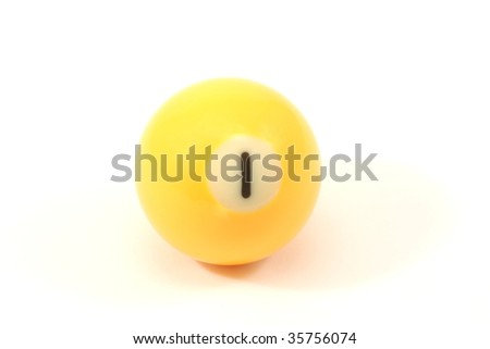 Billiard ball 1, one - stock photo