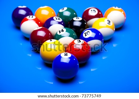 Billiard balls, pool