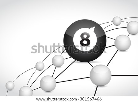 billiard link sphere network connection concept illustration design graphic background - stock photo