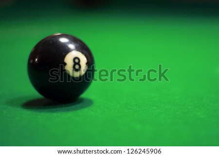 Billiard table for a pool - stock photo
