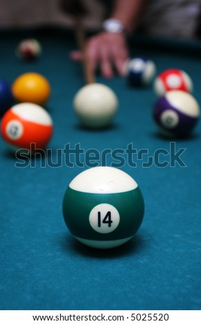 billiards - stock photo
