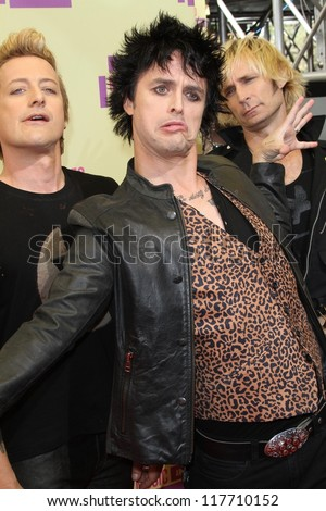 Billie Joe Armstrong at the 2012 Video Music Awards Arrivals, Staples Center, Los Angeles, CA 09-06-12 - stock photo