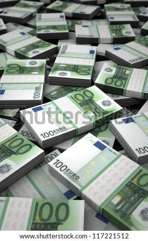 Billion Euros Concept Image (Computer generated image) - stock photo