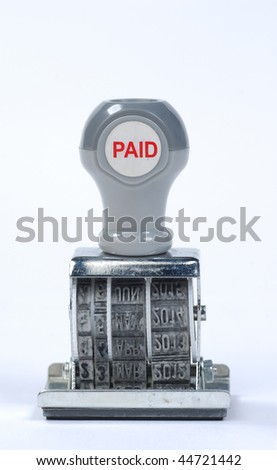 bills paid stamp - stock photo