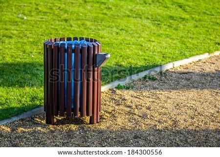 Bin in park - stock photo