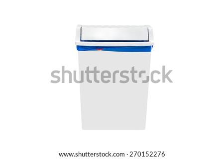 bin isolated on white background - stock photo