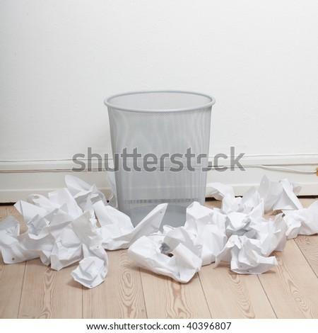 Bin the paper - stock photo