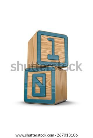 Binary blocks - stock photo