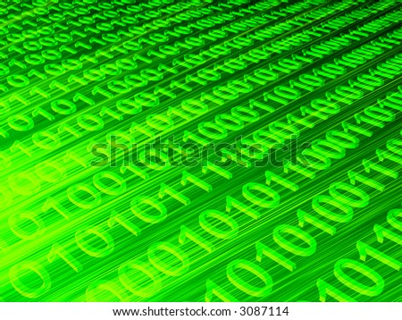 binary code - stock photo